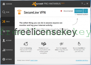 Avast Secureline VPN crack with license file till 2021